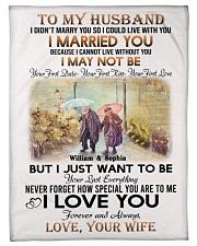 To My Husband DD011607MA Blanket Customize Name Fleece Blanket tile
