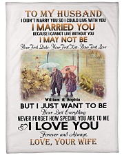 """To My Husband DD011607MA Blanket Customize Name Large Fleece Blanket - 60"""" x 80"""" front"""