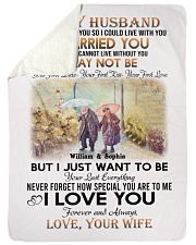 To My Husband DD011607MA Blanket Customize Name Sherpa Fleece Blanket tile