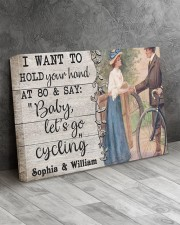 Cycling Customize Name 24x16 Gallery Wrapped Canvas Prints aos-canvas-pgw-24x16-lifestyle-front-02