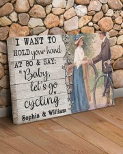 Cycling Customize Name 24x16 Gallery Wrapped Canvas Prints aos-canvas-pgw-24x16-lifestyle-front-12