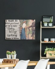 Cycling Customize Name 24x16 Gallery Wrapped Canvas Prints aos-canvas-pgw-24x16-lifestyle-front-19
