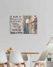 Cycling Customize Name 24x16 Gallery Wrapped Canvas Prints aos-canvas-pgw-24x16-lifestyle-front-20