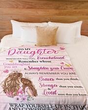 "Mother daughter Stronger Pink 2 Blanket Large Fleece Blanket - 60"" x 80"" aos-coral-fleece-blanket-60x80-lifestyle-front-02"