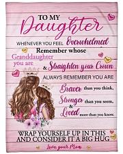 "Mother daughter Stronger Pink 2 Blanket Large Fleece Blanket - 60"" x 80"" front"