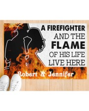 """A Friefighter DD011121NA Customize Name Doormat 34"""" x 23"""" aos-doormat-34-x-23-lifestyle-front-03"""