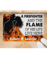 """A Friefighter DD011121NA Customize Name Doormat 34"""" x 23"""" aos-doormat-34-x-23-lifestyle-front-05"""