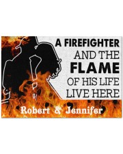 """A Friefighter DD011121NA Customize Name Doormat 34"""" x 23"""" front"""