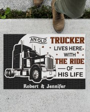 """An Old Trucker DD011120NA Customize Name Doormat 34"""" x 23"""" aos-doormat-34-x-23-lifestyle-front-01"""