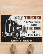 """An Old Trucker DD011120NA Customize Name Doormat 34"""" x 23"""" aos-doormat-34-x-23-lifestyle-front-02"""