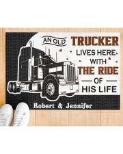 """An Old Trucker DD011120NA Customize Name Doormat 34"""" x 23"""" aos-doormat-34-x-23-lifestyle-front-03"""