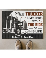 """An Old Trucker DD011120NA Customize Name Doormat 34"""" x 23"""" aos-doormat-34-x-23-lifestyle-front-04"""