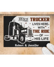 """An Old Trucker DD011120NA Customize Name Doormat 34"""" x 23"""" aos-doormat-34-x-23-lifestyle-front-05"""