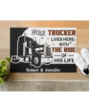 """An Old Trucker DD011120NA Customize Name Doormat 34"""" x 23"""" aos-doormat-34-x-23-lifestyle-front-12"""