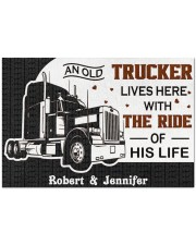 """An Old Trucker DD011120NA Customize Name Doormat 34"""" x 23"""" front"""