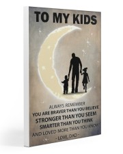 To my kids girl and boy Gallery Wrapped Canvas Prints tile