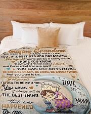 "My dear amazing grandson Large Fleece Blanket - 60"" x 80"" aos-coral-fleece-blanket-60x80-lifestyle-front-02"