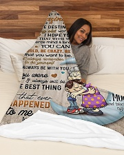 "My dear amazing grandson Large Fleece Blanket - 60"" x 80"" aos-coral-fleece-blanket-60x80-lifestyle-front-03"