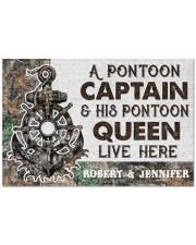 """Captain 2912NA Customize Name Doormat 22.5"""" x 15""""  front"""
