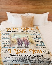 """To My Wife DD011610MA Blanket Customize Name Large Fleece Blanket - 60"""" x 80"""" aos-coral-fleece-blanket-60x80-lifestyle-front-02"""