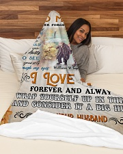 """To My Wife DD011610MA Blanket Customize Name Large Fleece Blanket - 60"""" x 80"""" aos-coral-fleece-blanket-60x80-lifestyle-front-03"""