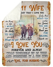 To My Wife DD011610MA Blanket Customize Name Sherpa Fleece Blanket tile