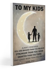 To my kids girl and boy 2 Gallery Wrapped Canvas Prints tile