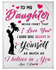 To my daughter believe Fleece Blanket tile