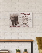 The First DD123008MA Customize Name 24x16 Gallery Wrapped Canvas Prints aos-canvas-pgw-24x16-lifestyle-front-17