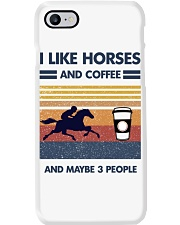 I Like Horse And Coffee And Maybe 3 People Phone Case thumbnail