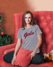 Girls T-Shirt from Friends - Red Ladies T-Shirt lifestyle-holiday-womenscrewneck-front-2