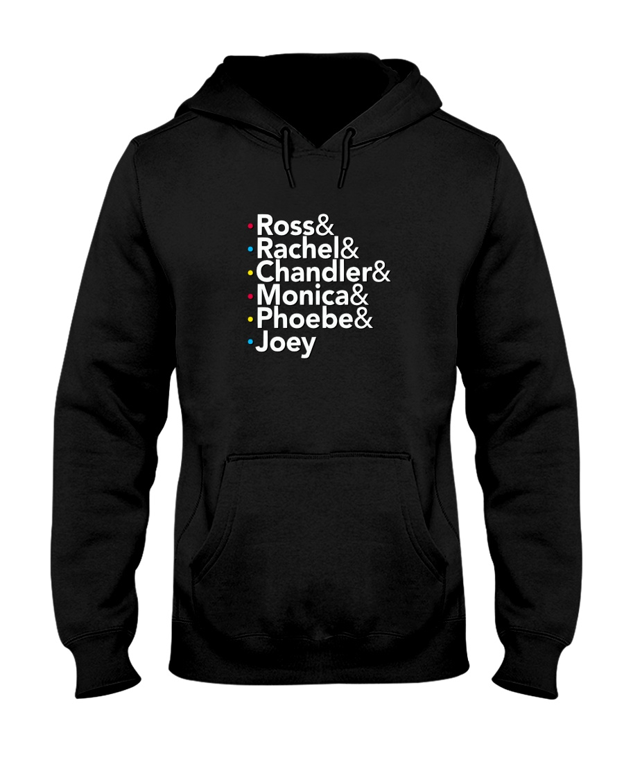 Friends 'Ross Rachel Chandler Monica Phoebe Joey' Hooded Sweatshirt
