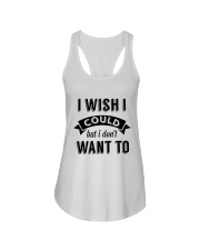 I wish i could but i don't want to - Collection Ladies Flowy Tank thumbnail