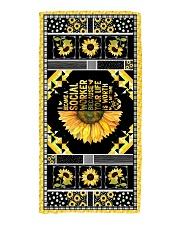 I became a social because your lifeis worth mytime Beach Towel front