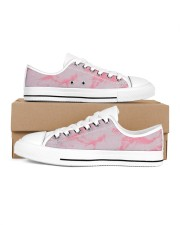 Pink marble Men's Low Top White Shoes thumbnail