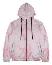 Pink marble Men's All Over Print Full Zip Hoodie thumbnail