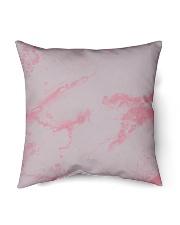 "Pink marble Indoor Pillow - 16"" x 16"" thumbnail"