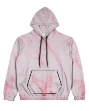 Pink marble Women's All Over Print Hoodie thumbnail
