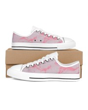 Pink marble Women's Low Top White Shoes thumbnail