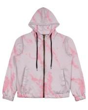 Pink marble Women's All Over Print Full Zip Hoodie thumbnail