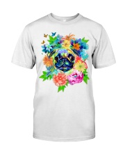 ColoryLIFE - Love your pugs Classic T-Shirt thumbnail