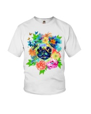 ColoryLIFE - Love your pugs Youth T-Shirt thumbnail