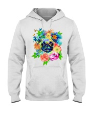 ColoryLIFE - Love your pugs Hooded Sweatshirt front