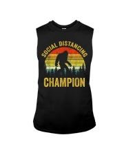 Social Distancing Champion Funny Bigfoot T Shirt Sleeveless Tee thumbnail