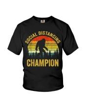 Social Distancing Champion Funny Bigfoot T Shirt Youth T-Shirt thumbnail