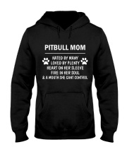 Pitbull Mom Hooded Sweatshirt front