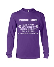 Pitbull Mom Long Sleeve Tee tile