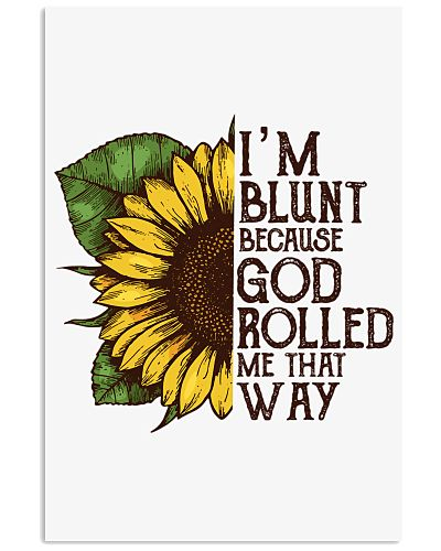 Sunflower Hippie Poster