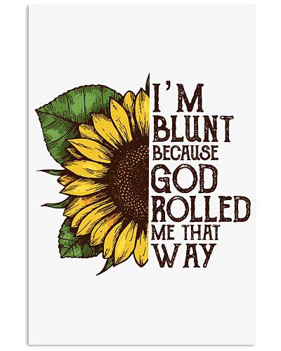 Sunflower Hippie Poster