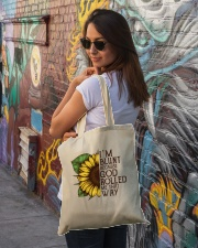 Sunflower Hippie Tote Bag Tote Bag lifestyle-totebag-front-1